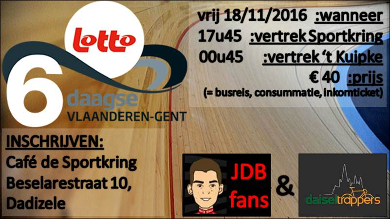 Zesdaagse Gent - reclame FB